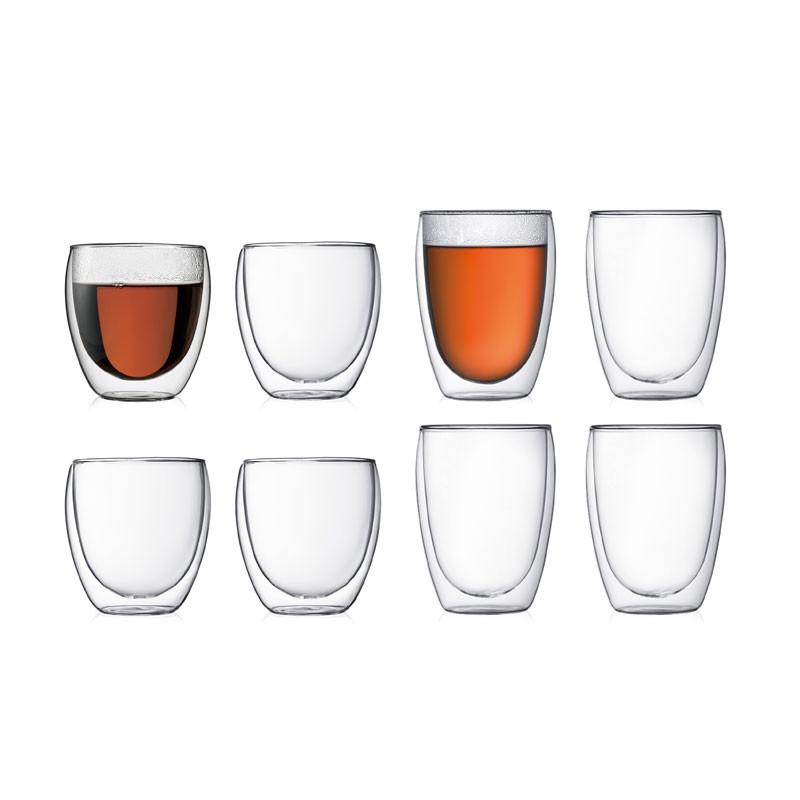 Pavina set dobbeltveggede glass 8 st