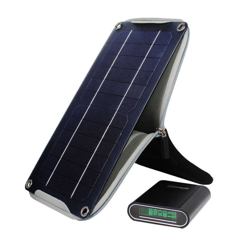 Crocodile solar panel with powerbank