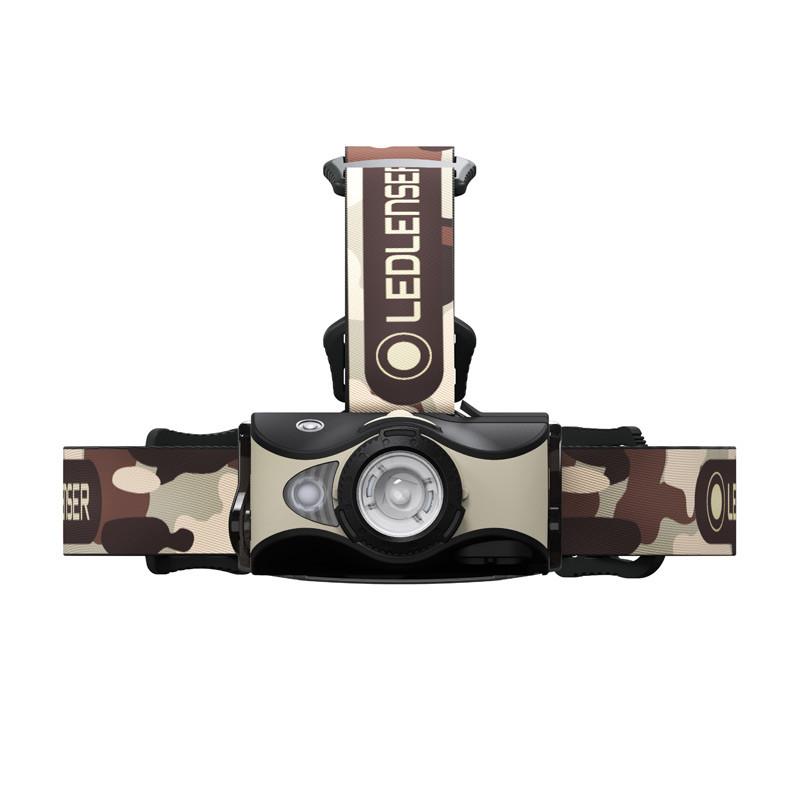 Hodelykt LED MH8 Beige/Brun camo